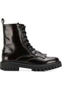 Tommy Hilfiger Leather Ankle Boots - Marrom