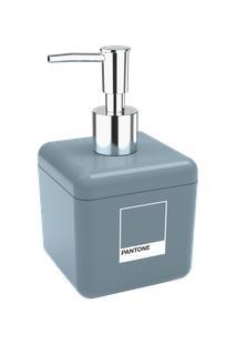 Porta-Sabonete Líquido Cube 8,5 X 8,5 X 15 Cm 330 Ml Azul Pantone Coza