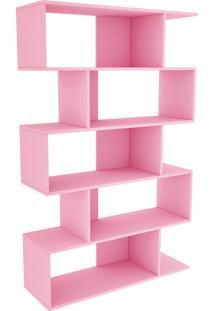 Estante Twister C/ 4 Pés Quartzo Rosa Tcil Móveis
