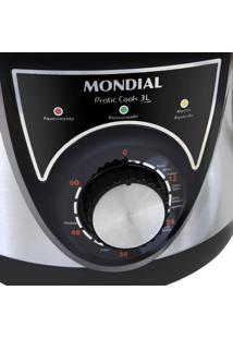 Panela De Pressão Elétrica Pratic Cook 3L Inox Mondial 220V Pe26