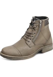 Bota Dress Boot Sandro Moscoloni Kanvas Marrom Claro