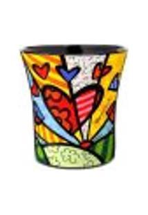 Romero Britto Lixeira De Cerâmica - New Day