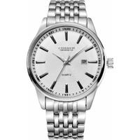 6de39d027 Relógio Curren Analógico 8052 Prata E Branco - Masculino