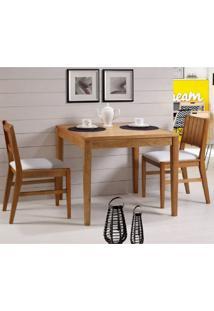 Conjunto Com Mesa Quadrada E 2 Cadeiras Assento Estofado Casa E Jardim Móveis Jatoba