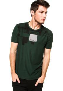 Camiseta Manga Curta Calvin Klein Jeans Tee Verde