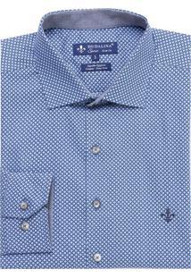 Camisa Dudalina Manga Longa Tricoline Estampa Floral Masculina (Estampado, 2)