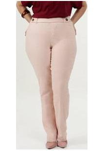 Calça Feminina Bengaline Boot Cut Plus Size Gups