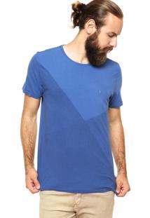 Camiseta Aramis Bordado Azul
