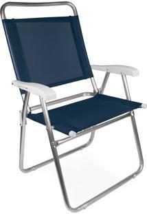 Cadeira Master Plus Fashion Alumínio Azul Marinho Mor