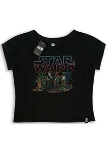 Camiseta Feminina Star Wars Bounty Hunters - Feminino-Preto