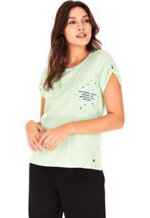 Camisetas Side Walk Camiseta Detalhe Bordado Verde