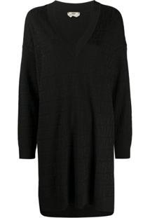 Fendi Vestido De Tricô Com Monograma Ff Em Jacquard - Preto