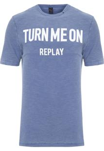 Camiseta Masculina Turn Me On - Azul Marinho