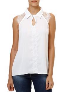 Blusa Regata Feminina Autentique Branco