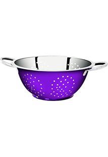 Escorredor Lilã¡S De Massa Em Aã§O Inox Color - 24Cm Gourmet Mix