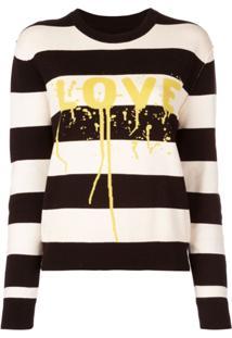 Zadig&Voltaire Love Print Striped Jumper - Preto