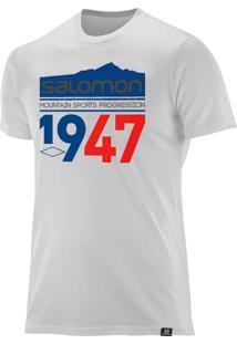 Camiseta Salomon 1947 Masculina Branca Gg