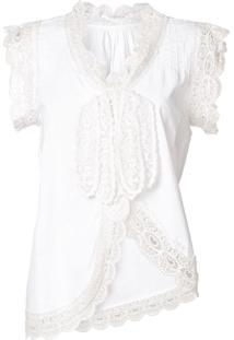 Tsumori Chisato Blusa Com Renda - Branco
