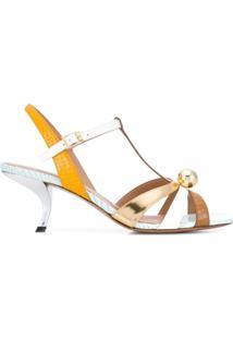Marni Sandália Com Gravação - Dourado