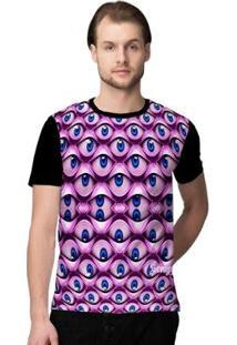 Camiseta Stompy Psicodelica30 Masculina - Masculino-Preto