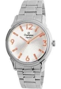 Relógio Champion Analógico Cn25832Q Feminino - Feminino-Prata