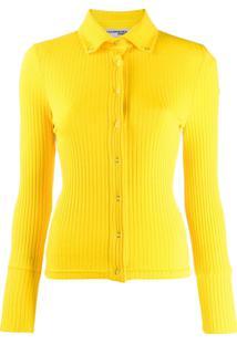 Courrèges Blusa Canelada Com Botões - Amarelo