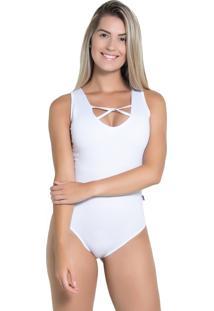 Body Kaisan Com Detalhe Trançado Branco
