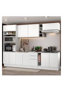 Cozinha Completa Madesa Stella 290001 Com Armário E Balcão Branco Cor:Branco