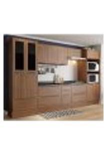 Cozinha Completa Multimóveis Com 11 Peças Calábria 5451R Nogueira