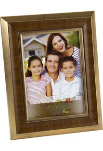 Porta Retrato Chanfrado Dourado 20X25Cm Woodart