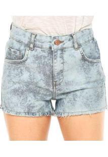 Shorts Jeans Walk Drean Away Billabong Feminino - Feminino-Cinza+Azul
