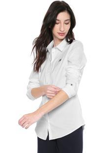 Camisa Tommy Hilfiger Slim Logo Branca