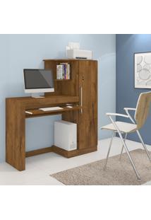 Mesa Escrivaninha Jcm Movelaria Aroeira Com Armário 1 Porta