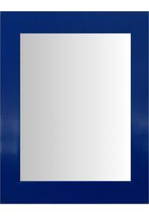 Espelho Moldura Madeira Lisa Raso 16295 Azul Art Shop