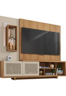 Estante Home Theater Para Tv Até 65 Polegadas 2 Portas Linus Buriti/Of