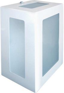 Arandela Biancoluce Retangular Branca 20Cm Em Alumínio Estilo 1213 Luminárias