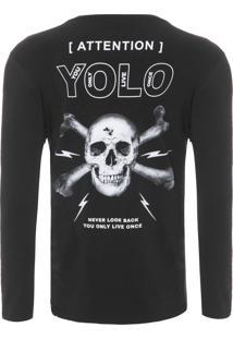 Camiseta Masculina Yolo - Preto
