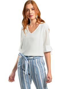 Blusa Mx Fashion Frente Dupla Dakota Off White