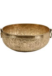 Vaso Decorativo De Metal Alpaca Sidon Grande