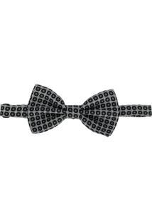 Dolce & Gabbana Gravata Borboleta Com Estampa Geométrica - Preto
