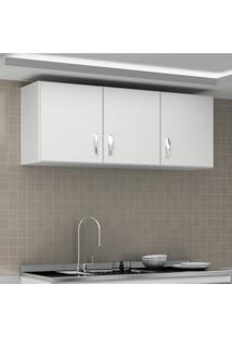 Armário Aéreo De Cozinha 3 Portas Carolina Evidência Móveis Branco