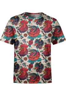 Camiseta Estampada Over Fame Tatuagens Animais Multicolorido