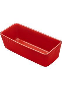 Forma Para Bolo- Vermelha- 8,5X28X12,5Cmricaelle