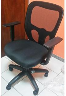 Cadeira India Base Giratoria Preto C/Braco Cor Preta - 24434 - Sun House