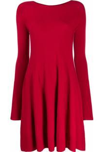 Twinset Vestido De Tricô Mangas Longas - Vermelho