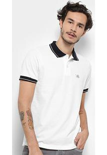 Camisa Polo Bulldog Fish Friso Masculina - Masculino-Off White
