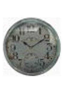 Relógio De Parede De Ferro Azul Envelhecido