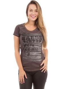 Camiseta Aes 1975 Soft Feminina - Feminino-Marrom