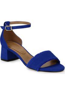584883da4 Sandália Azul Jacquard feminina