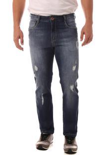 Calça Jeans Denuncia Slim Fit Azul